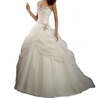 Yxjdress Women's Organza Wedding Dresses Bridal Gowns Cocktail