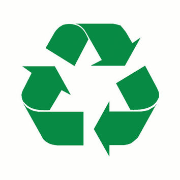 RECYCLE DECAL great for bins cars or any flat by OwlOutfitters