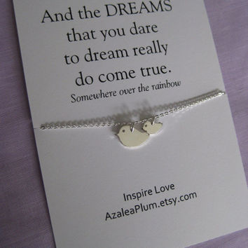 SISTER JEWELRY // Mother Daughter Jewelry // Inspirational  // Delicate  Silver // Graduation Gift // Granddaughter // Best Friend