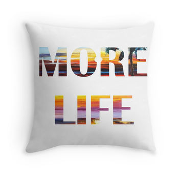 'More Tropical Life' Throw Pillow by KinkyHead