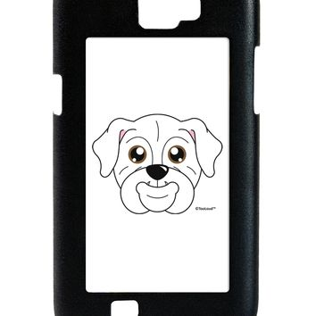 Cute Bulldog - White Galaxy Note 2 Case  by TooLoud