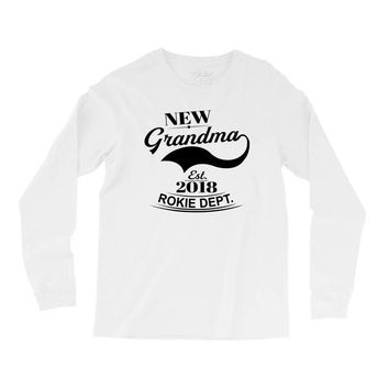 New Grandma 2018 Rokie Dept. Long Sleeve Shirts