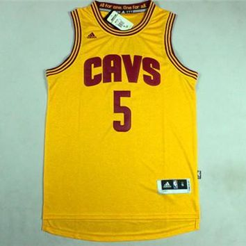 J.R.Smith Cleveland Cavaliers #5 Yellow CAVS Jersey