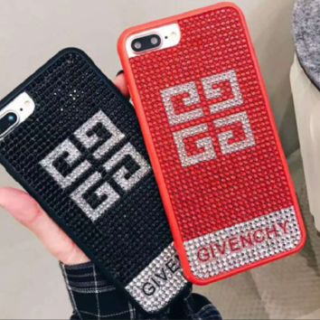 GIVENCHY print phone shell phone case for Iphone 6/6s/6p/7p/7/8