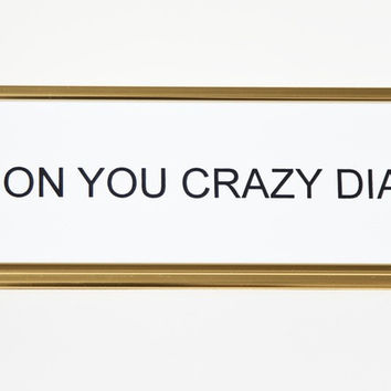 Shine On You Crazy Diamond Nameplate