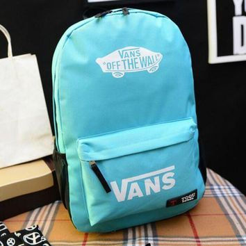 CREYON VANS Canvas double shoulder backpack college students in the wind of the school children's schoolbag youth fashion bag