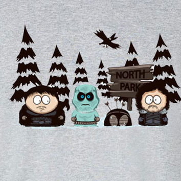South Park Game of thrones North Park parody tee t-shirt
