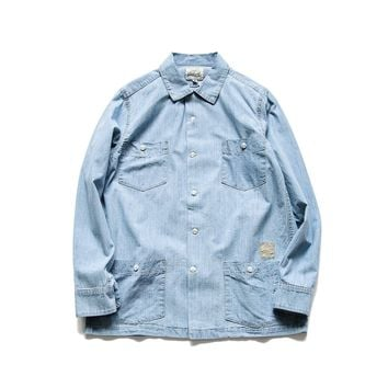 Men's Fashion Summer Training Denim Shirt [10800261059]