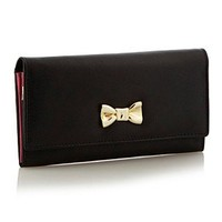 Collection Black Leather Bow Charm Purse - Purses - Handbags & purses - Women - Debenhams Mobile