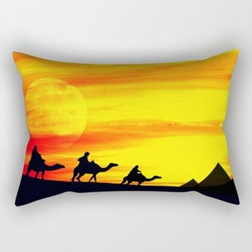 Egyptian supermoon Rectangular Pillow by Pirmin Nohr