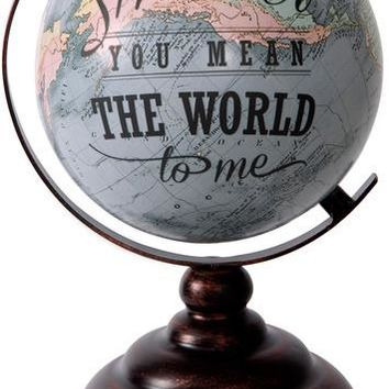 Mother you mean the World to me Decorative Desktop Globe