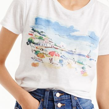 Marcel George™ for J.Crew beach watercolor T-shirt in vintage cotton : Women gallery tees | J.Crew