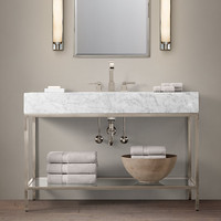 Hudson Metal Extra-Wide Single Washstand