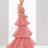 Ball gown strapless pink 2012 Cocktail Dresses RSC0029