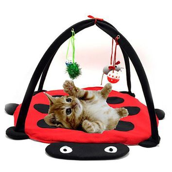 Pet Cat Bed Toys Mobile Activity Playing Bed Toys Cat Bed Pad Blanket House Pet Furniture Cat Tent Toys Free Shipping