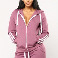 Lover Lounge Hoodie - Light Purple
