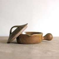 french rustic clay pot by voladoravintage on Etsy