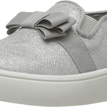 MICHAEL Michael Kors Kids Womens Ivy Bowi-T (Toddler/Little Kid) Silver Shimmer Saffiano 9 Toddler M '