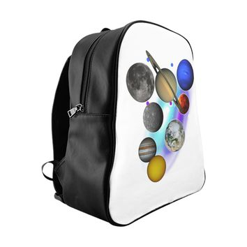 Solar System Planet School Backpack