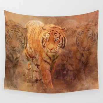 Tiger Spirit Framed Art Print by Theresa Campbell D'August Art