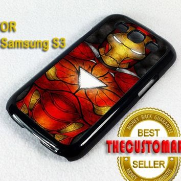 The Iron Man Art - For Samsung Galaxy S3 Black Case Cover