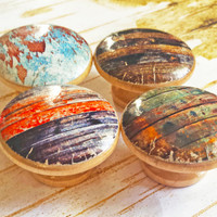 Rustic Knobs, Choose By Number Distressed Wood Drawer Pulls, Cabinet Pull Handles, Old Barn Wood Style, Reclaimed Wood, Made To Order