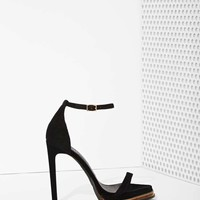 Jeffrey Campbell Tropicana Suede Heel - Black