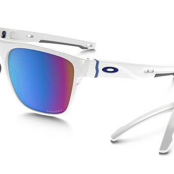 OAKLEY CROSSRANGE XL POLISHED WHITE PRIZM SNOW SAPPHIRE IRIDIUM