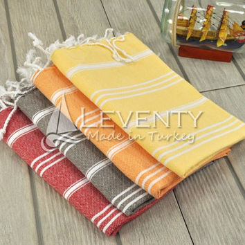 French Tea Towel Set of 4 Peshkir Towel Easter Towels Dish Towel Kitchen Textiles Hand Dryers Handtuch Reusable Towel Cotton Dishcloth Foot