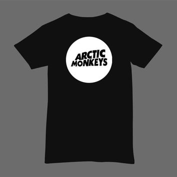 Circle Logo Arctic Monkeys White Black Dsign t-shirt men S,M,L,XL