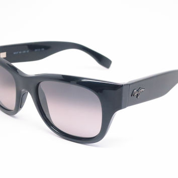 Maui Jim Kahoma MJ GS285-02 Black Polarized Sunglasses