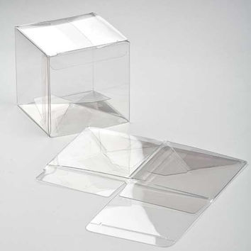 5 Premium Crystal Clear CUBE Boxes 3 x 3 x 3 Inches Square for Gifts, Retail Packaging, Favors