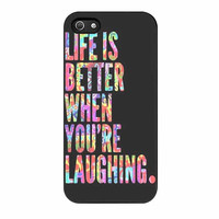 life is better when laughing quote cases for iphone se 5 5s 5c 4 4s 6 6s plus