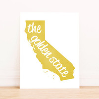 Printable Art California State Art Typography Poster Dorm Decor Home Decor Office Decor Poster