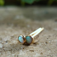 Post/Stud Earrings Gold Filled 3mm Opal