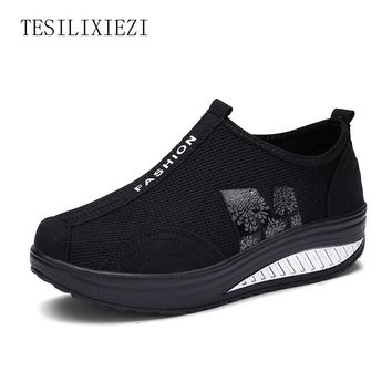 Outdoor Women Swing Platform Shoes Ladies Trainers Fitness Running Shoes Women Ankle Boots Sneakers zapatillas mujer
