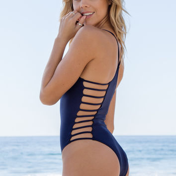 L*Space Swim - Wild Side One Piece | Midnight Blue