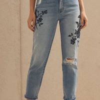 PacSun Black Rose Mom Jeans at PacSun.com