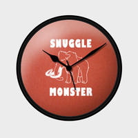 Snuggle Monster Wall Clock | Artist : Dr. Green