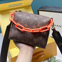 LV Louis Vuitton New Popular Women Men Leather Mini Handbag Tote Shoulder Bag Crossbody Satchel