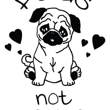 Pugs not Drugs Decal Stickers