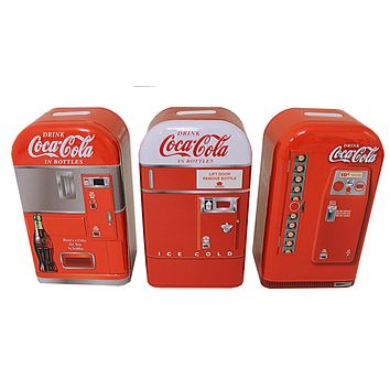 Coca Cola Classic Vending Machine Tin Charity Boxes