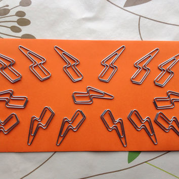 15 Lightening Bolt Halloween / Harry Potter Paper Clips / Page Markers •  For Your Diary, Planner, Organiser, Filofax, Journal, Scrapbook