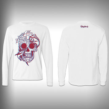 3D - Sugar Skull Mahi - Performance Shirt - Fishing Shirt