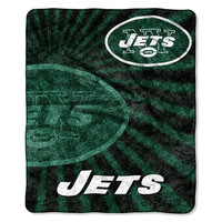 New York Jets NFL Sherpa Throw (Strobe Series) (50in x 60in)