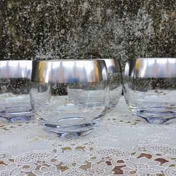 Mid Century Dorothy Thorpe Roly Poly Cocktail Glasses Set of Four