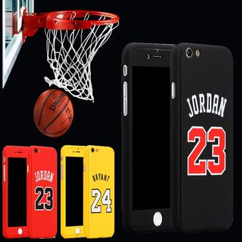 New Sports Basketball 360 Case Coque For iPhone 6 6s 7 7 Plus Kobe Bryant Curry Michae