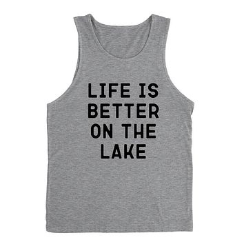 Life is better on the lake, vacation, funny workout, summer, gift for her, for him Tank Top