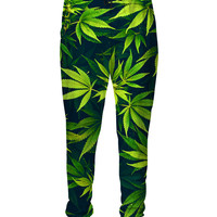 Weed Sweatpants green leaf passion for pot 3d Print Sweats Pants Women Men   Pants Fashion Clothing Plus Size