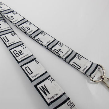 Periodic Elements Lanyard Periodic Table of Elements  Chemistry Lanyard Science Teacher Lanyard  Lanyard Periodic Table Science Key Ring